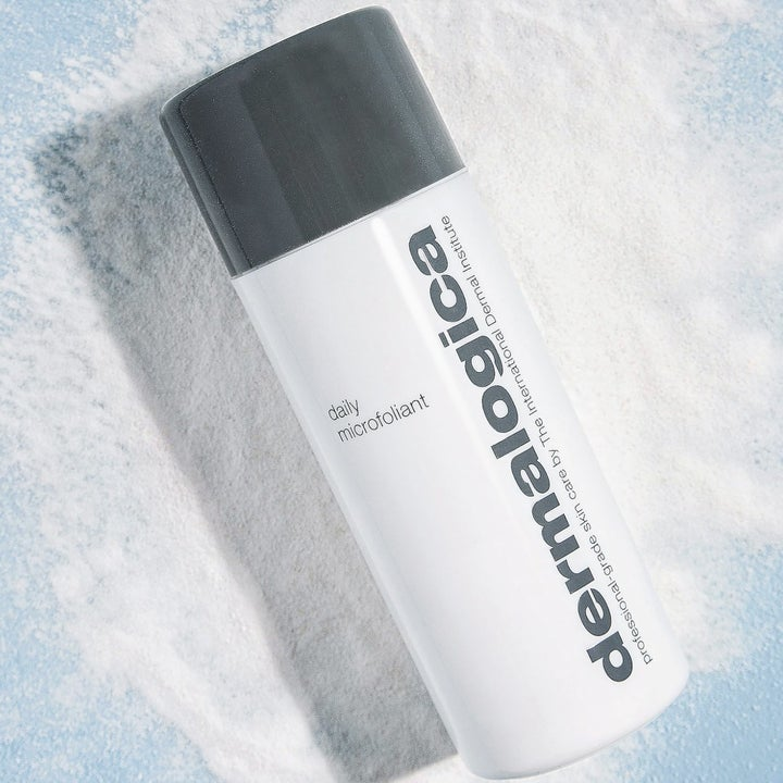 A bottle of facial exfoliant