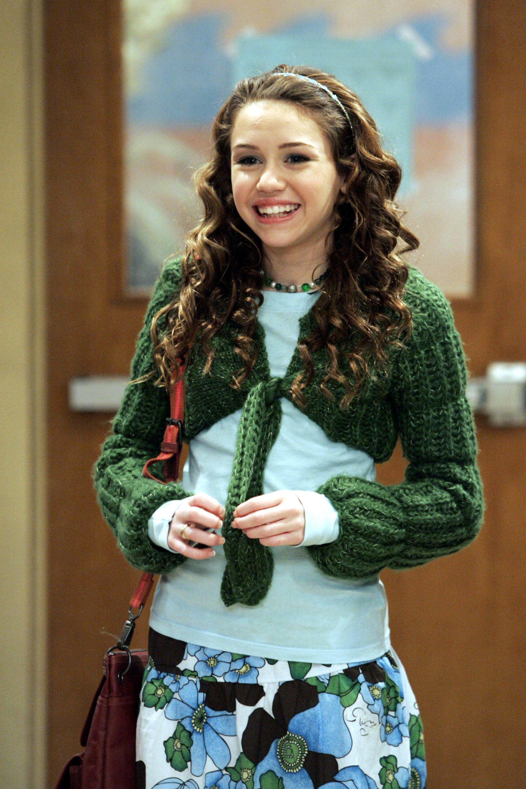 A young Miley as Hannah