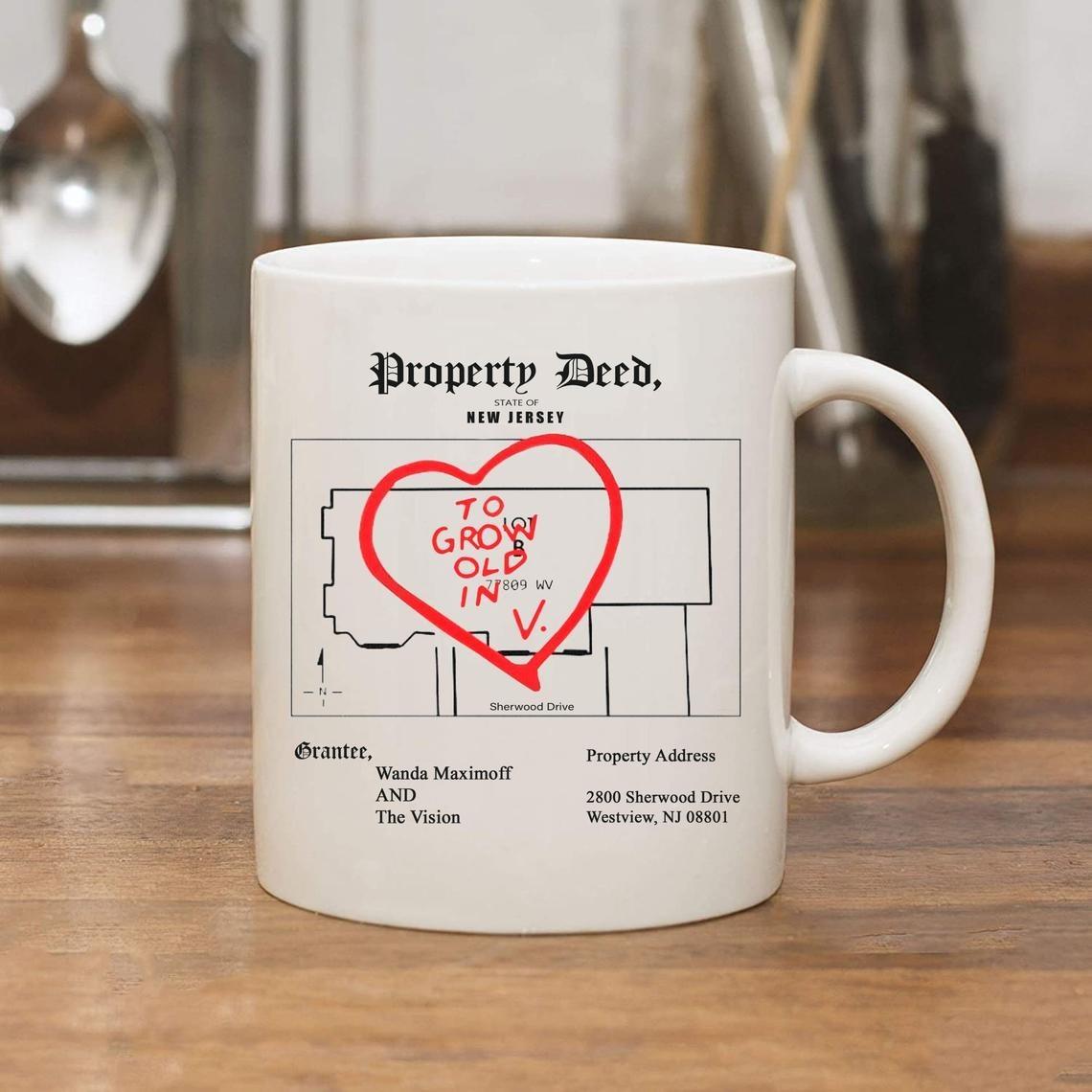 The coffee mug on a table