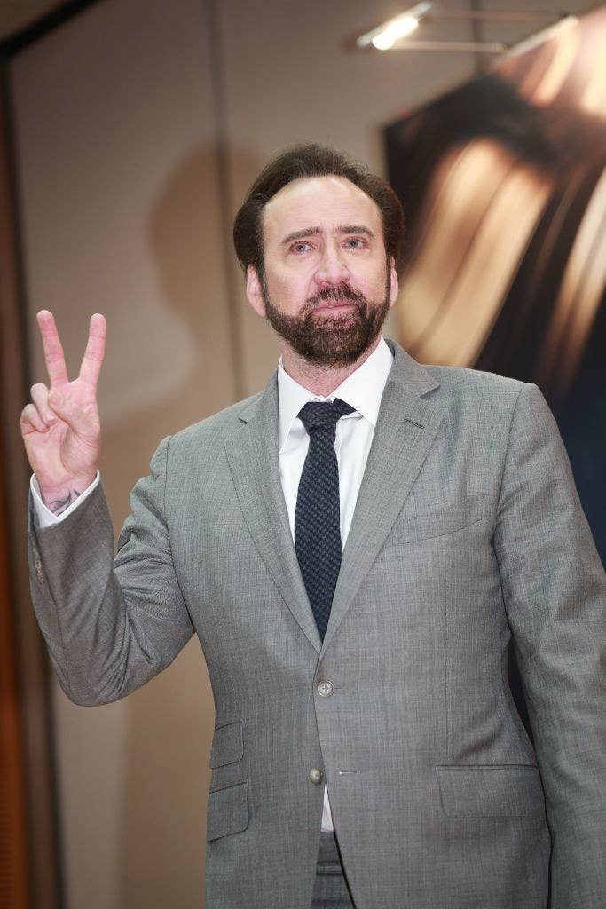 Nicolas Cage attends the opening ceremony of the 3rd International Film Festival & Awards Macao (IFFAM)