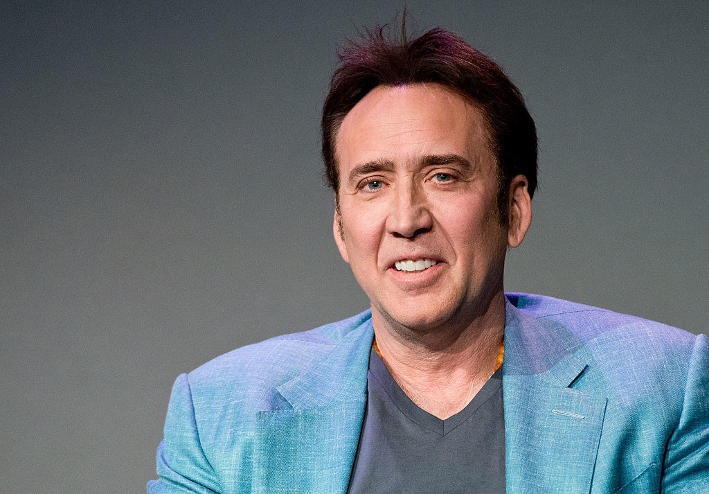 """Nicolas Cage attends """"Meet The Filmmakers"""" at Apple Store Soho"""
