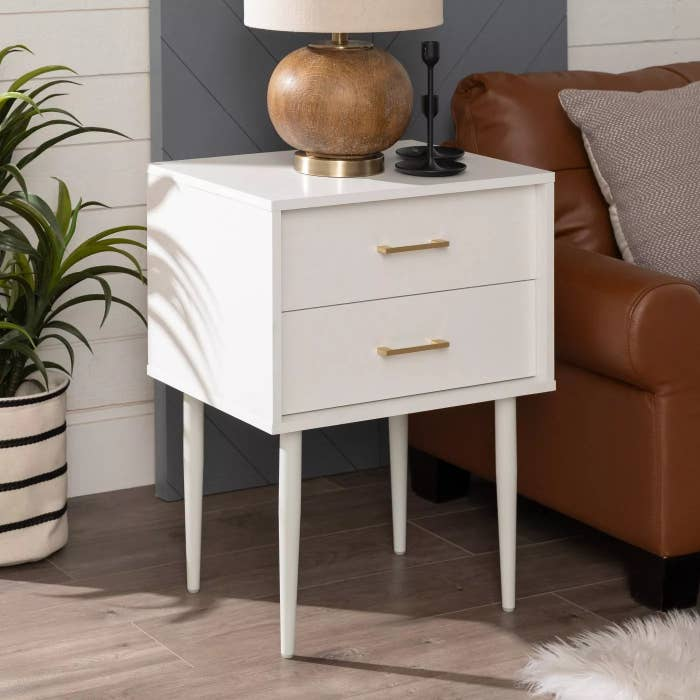 The nightstand in white