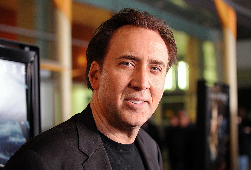 """Nicolas Cage arrives at the screening of Summit Entertainment's """"Drive Angry 3D"""""""