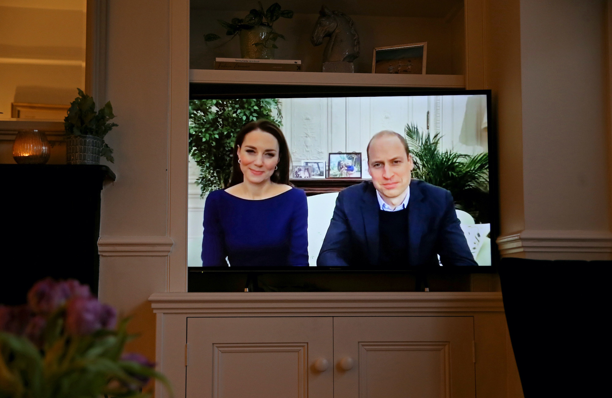 Prince William and Kate Middleton's Commonwealth Day statement on a television