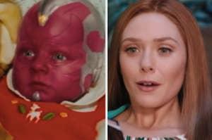 Baby Vision and Wanda on