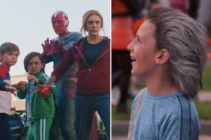 Wanda, Vision, Billy, and Tommy