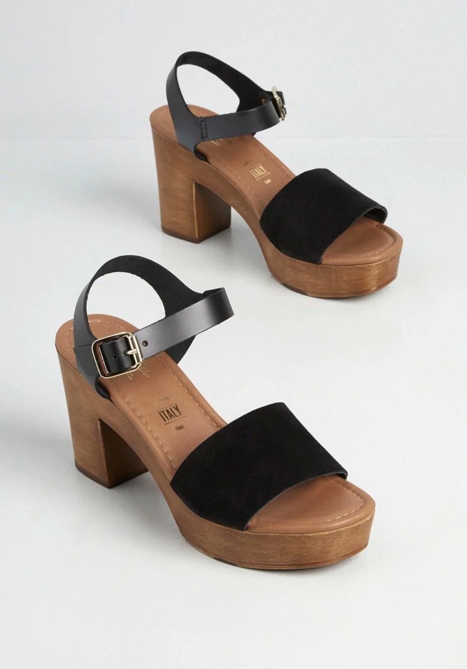 The platform sandals
