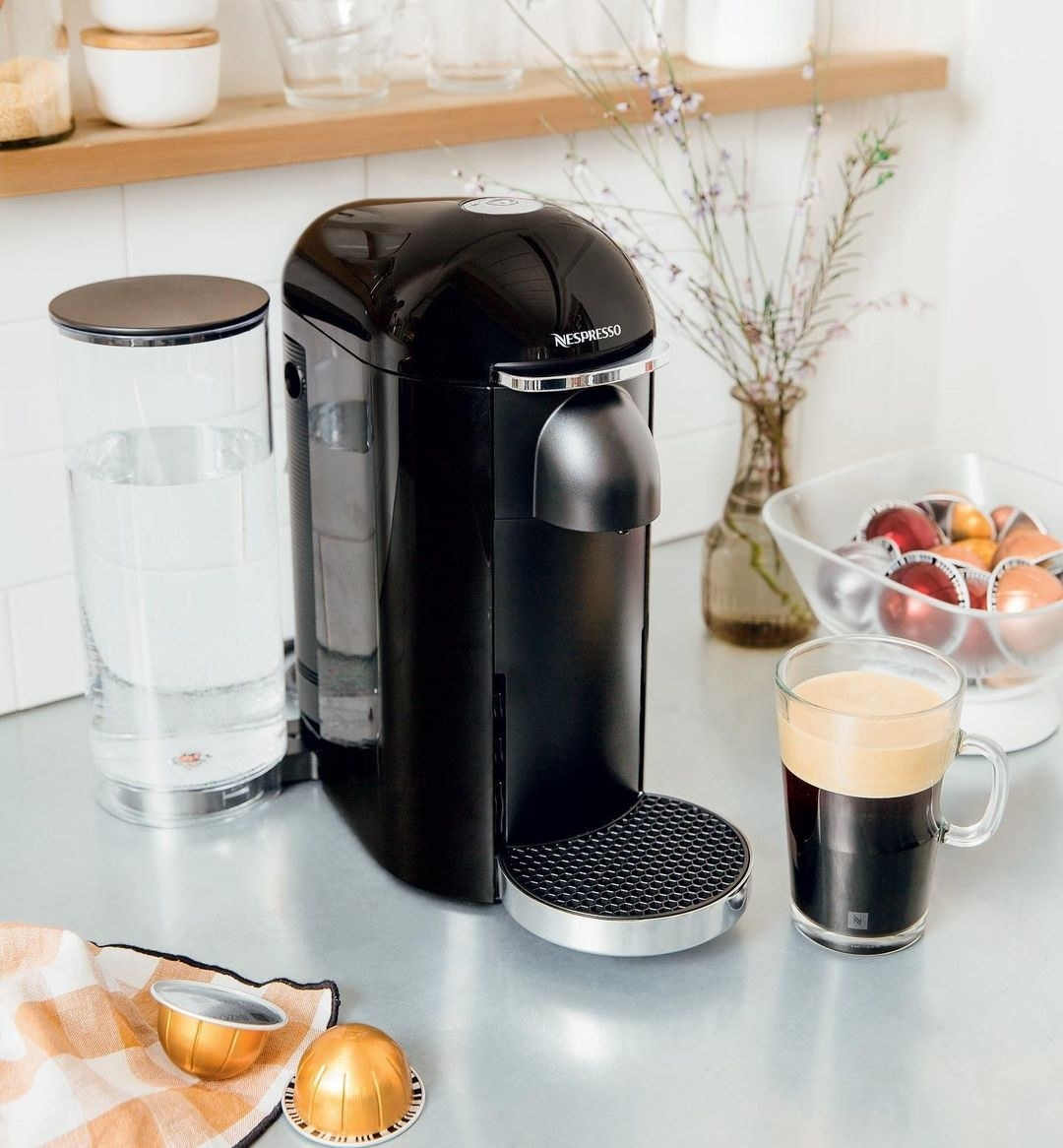The coffee maker on a kitchen counter