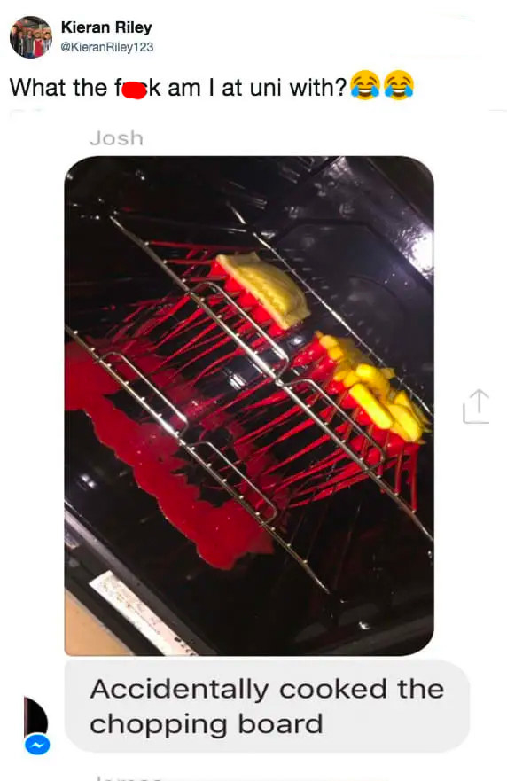 person who cooked a cutting board