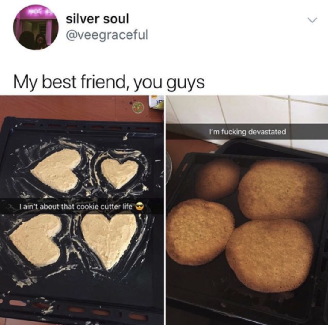 cookies meant to look like hearts that came out as circles