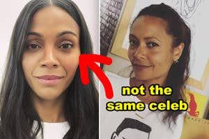 Side-by-side of Zoe Saldana and Thandie Newton