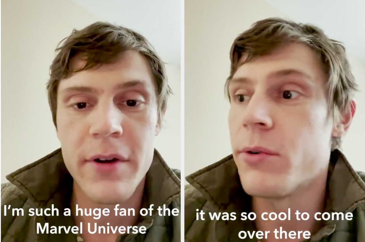 Evan peters saying how cool it was to film wandavision