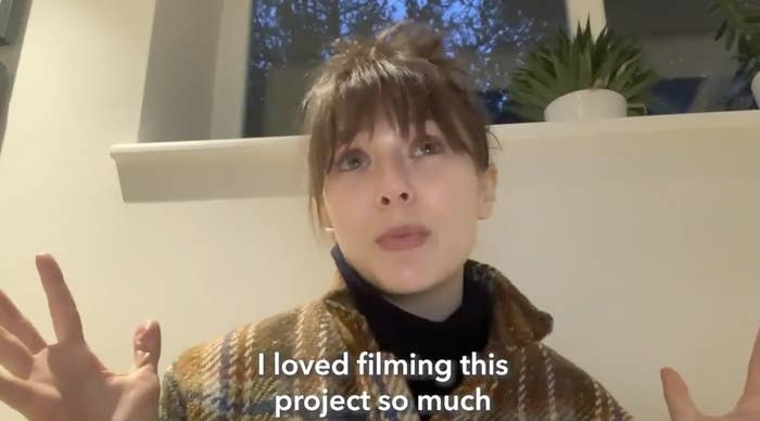 "Elizabeth Olsen saying ""I loved filming this project so much"""