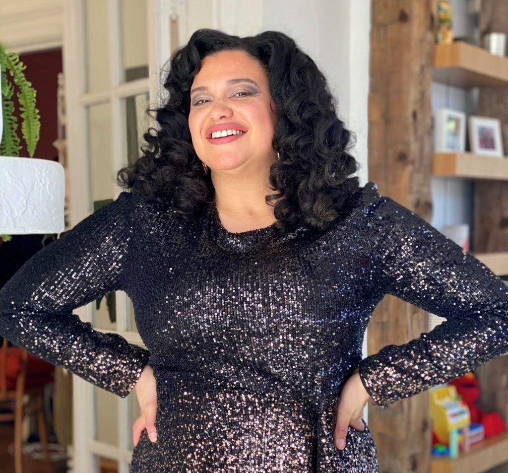 Michelle Buteau poses for the 2021 Critics Choice Awards on March 7, 2021
