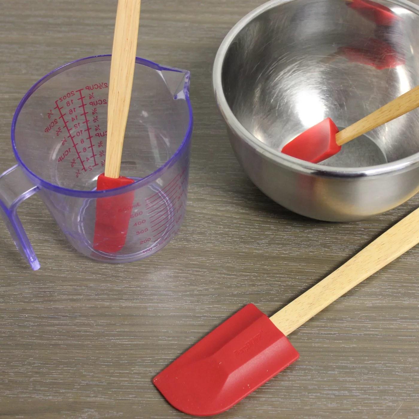 The red silicone spatulas