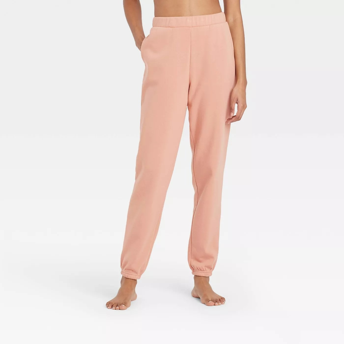 The pink joggers