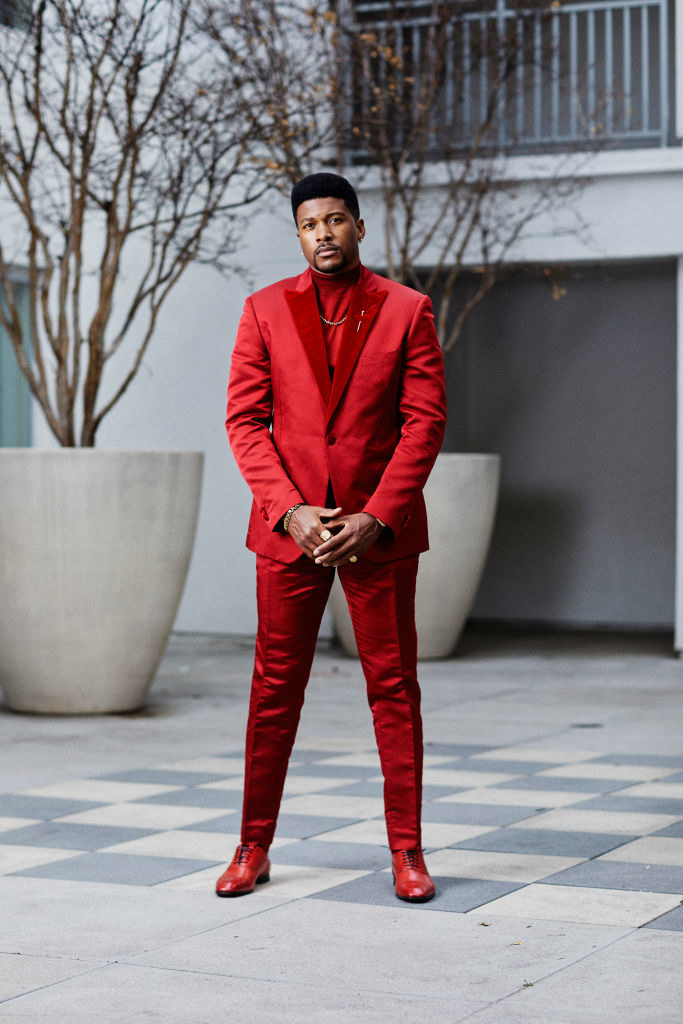 Eli Goree poses for the 2021 Critics Choice Awards on March 7, 2021