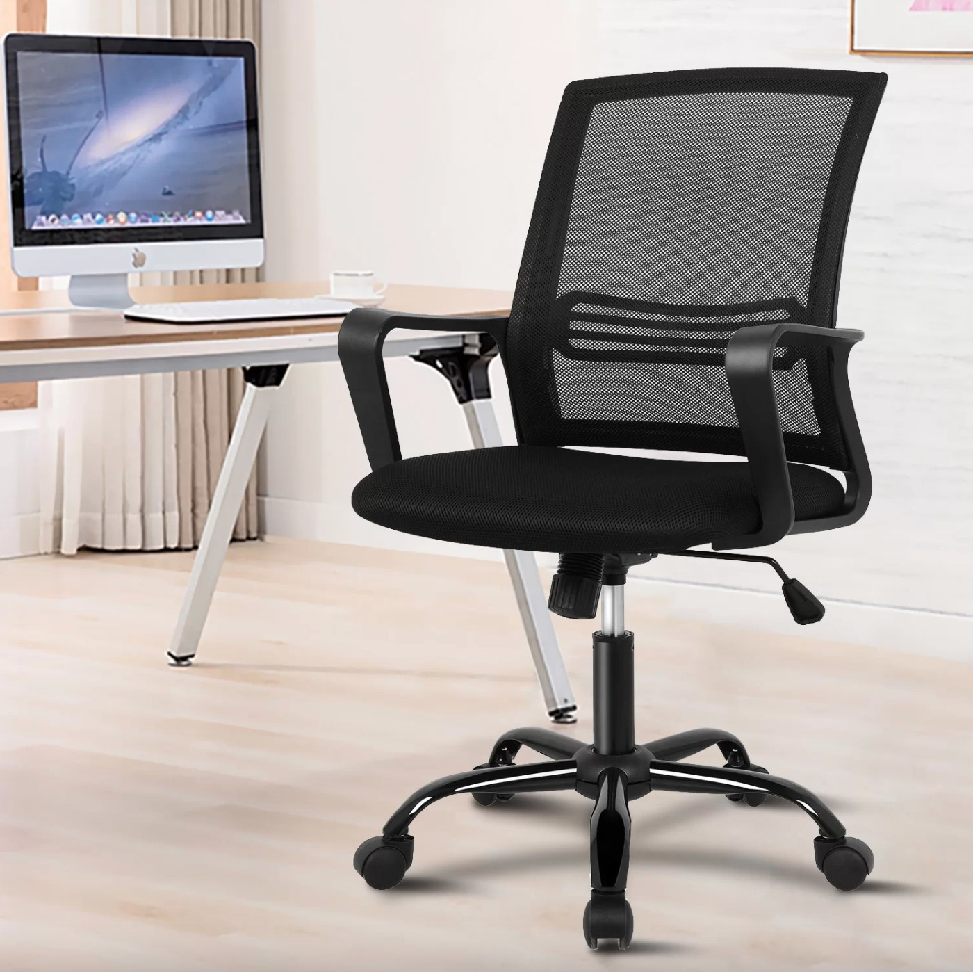 The office chair in black