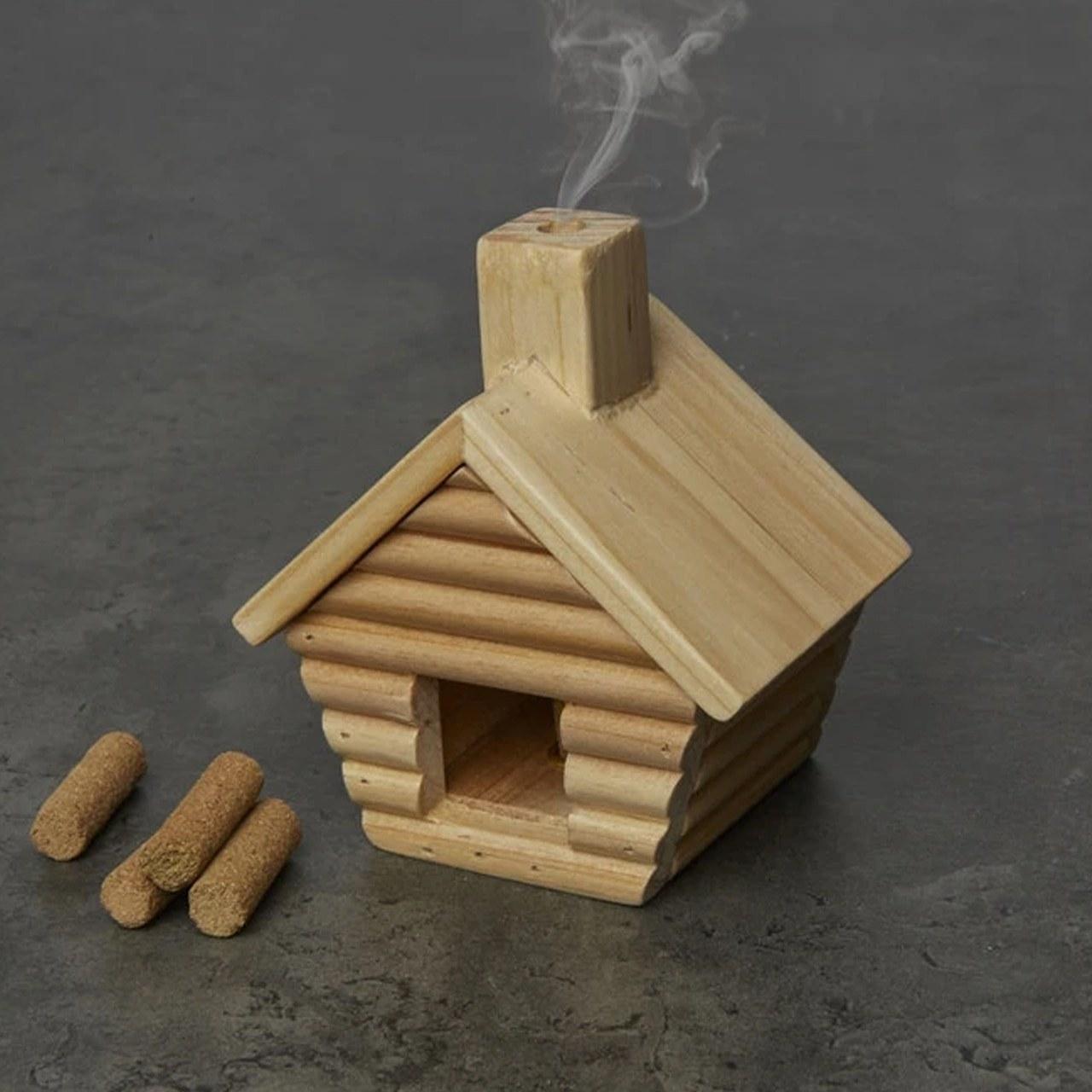 the log cabin incense holder