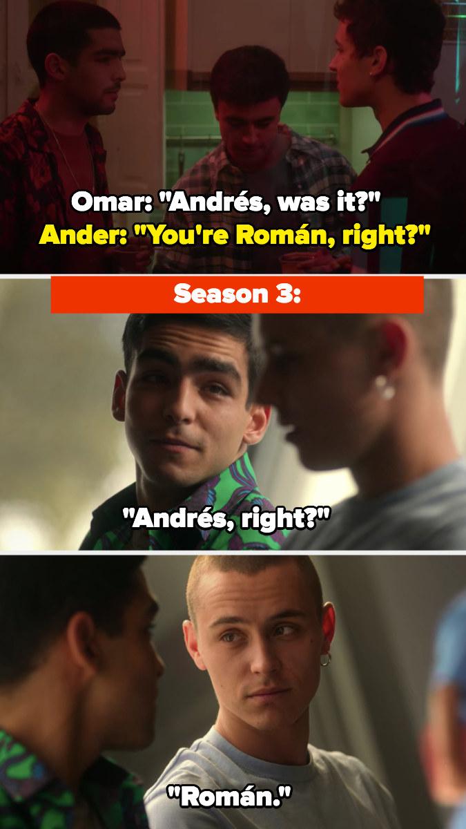 Omar and Ander reunite at the end of Season 3