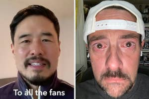 Randall Park side by side with Kevin Smith