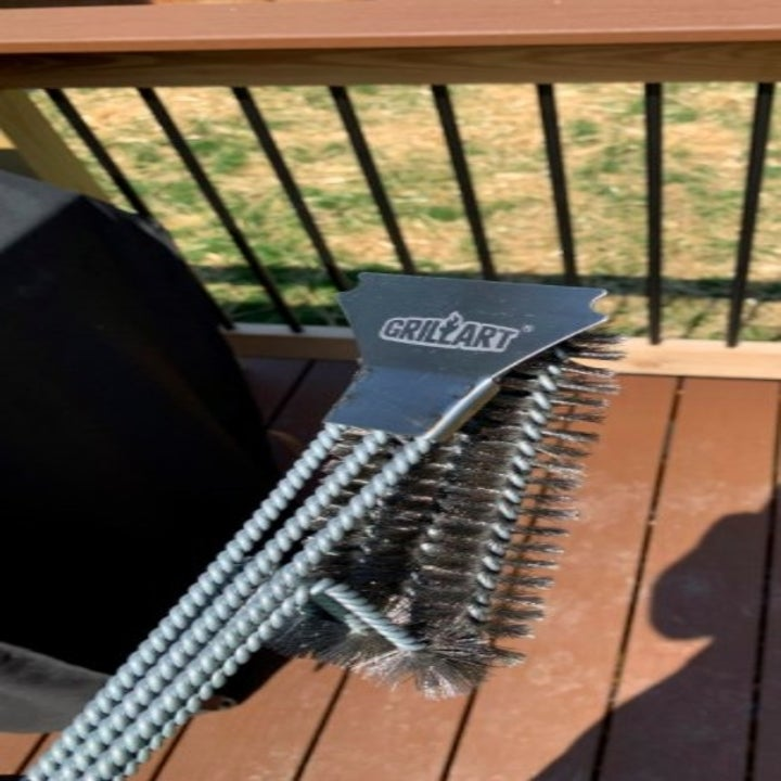 front side of grill scrubber