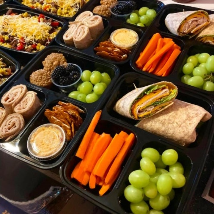 close up shot of meal prepped food placed in a food storage containers