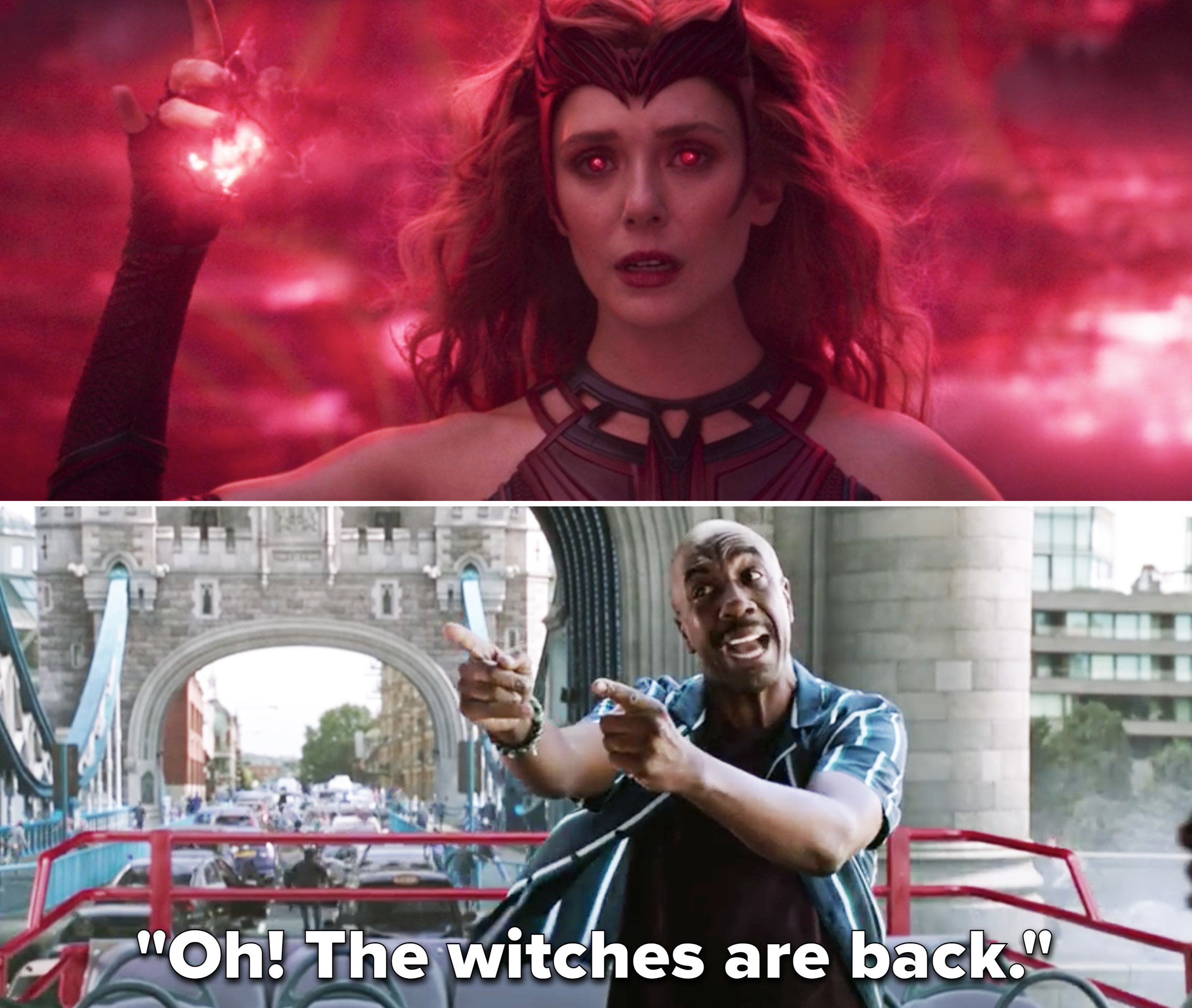 "Mr. Dell saying, ""Oh! The witches are back"""