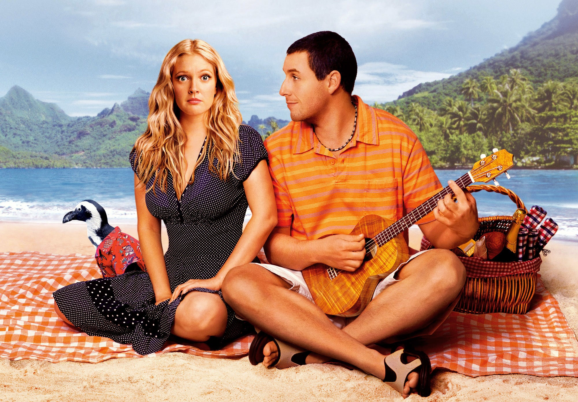 Henry and Lucy in the movie 50 first dates