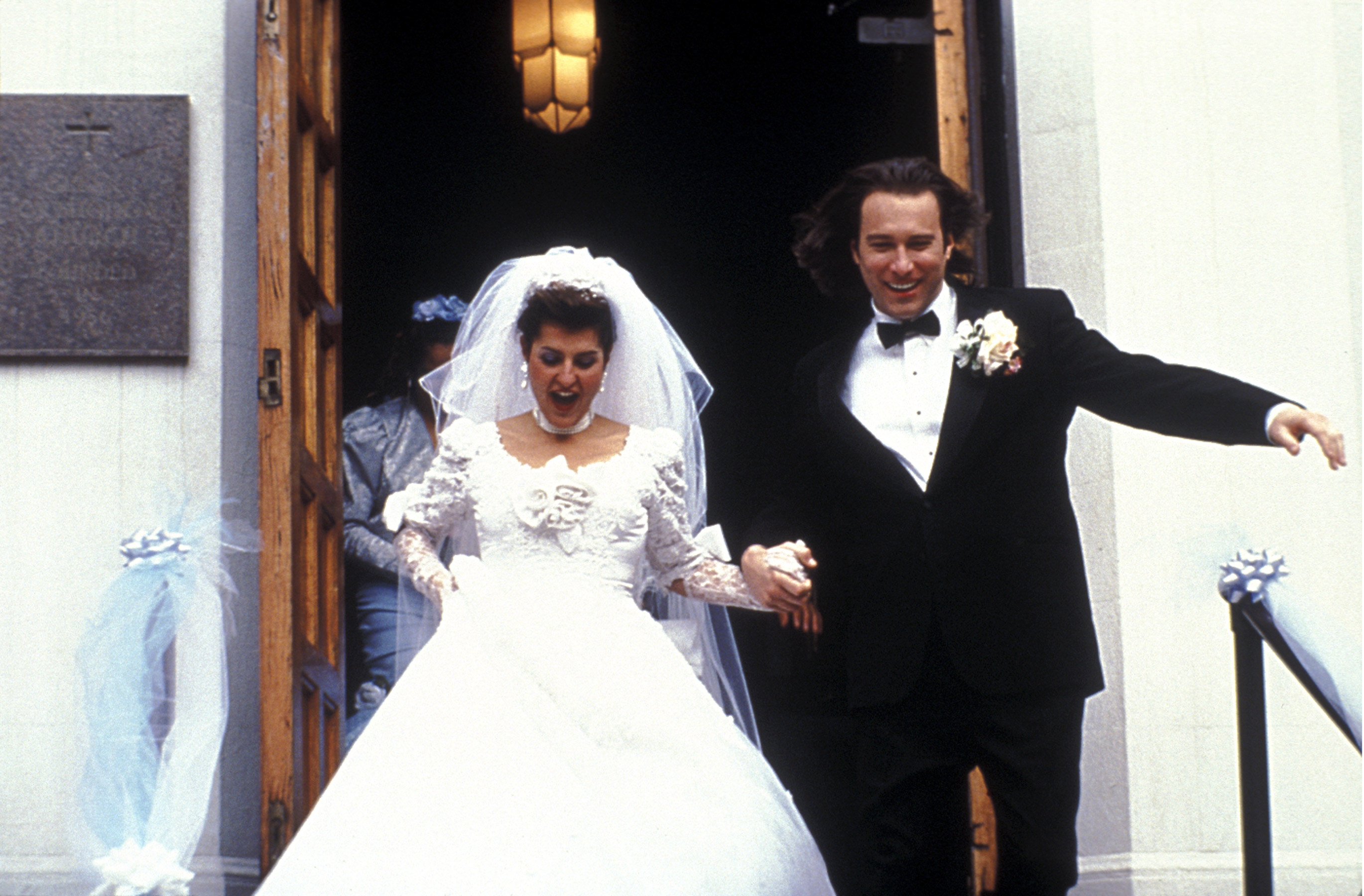 Toula and Ian on their wedding day