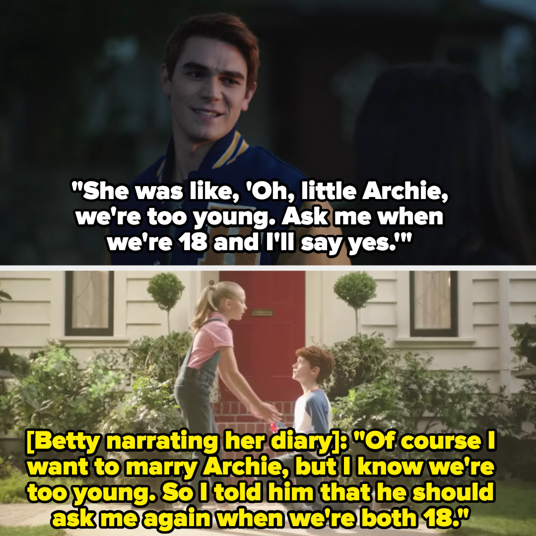 little Archie proposes to Betty just like in Archie's story