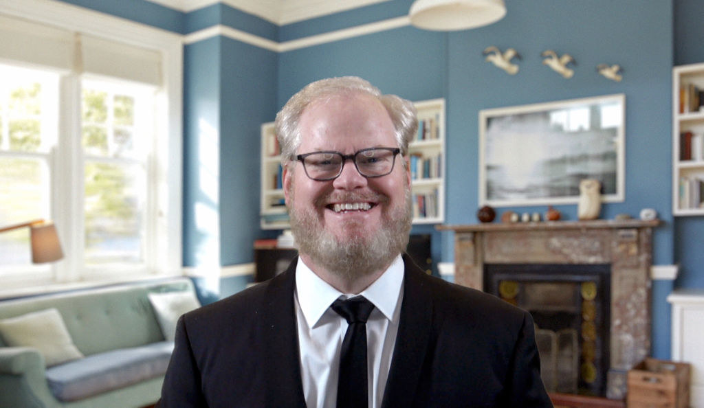 Jim Gaffigan speaks at the 26th Annual Critics Choice Awards on March 07, 2021