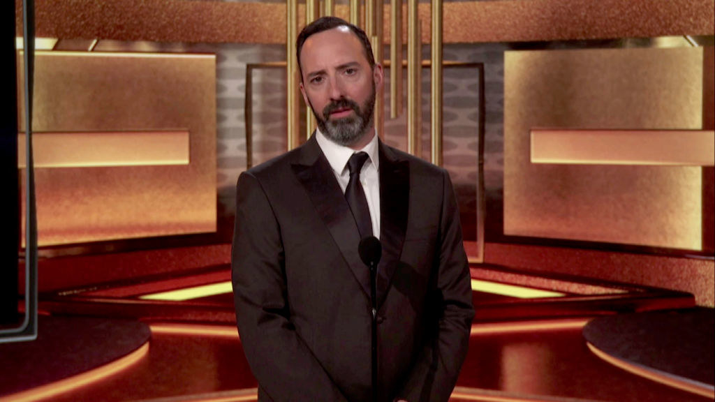 Tony Hale speaks at the 26th Annual Critics Choice Awards on March 07, 2021