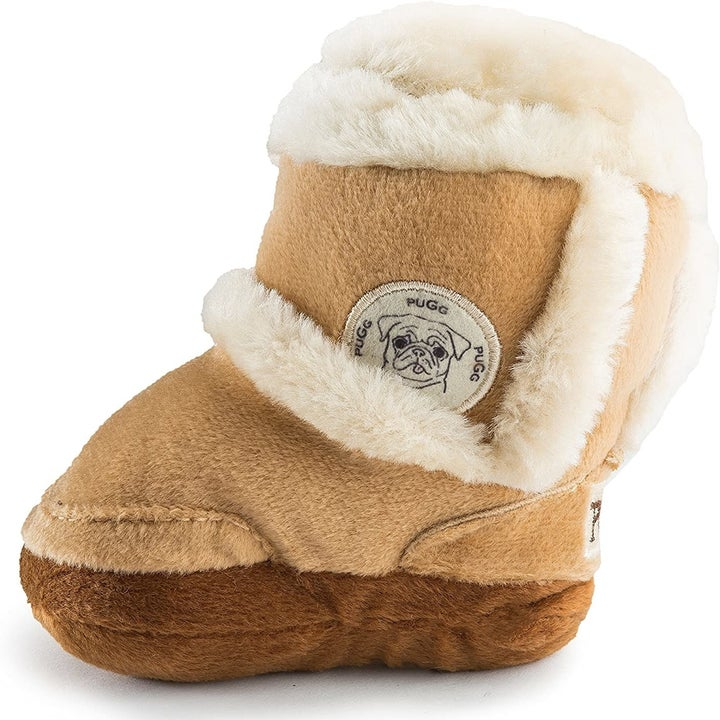 The chew toy in the style of an Ugg boot