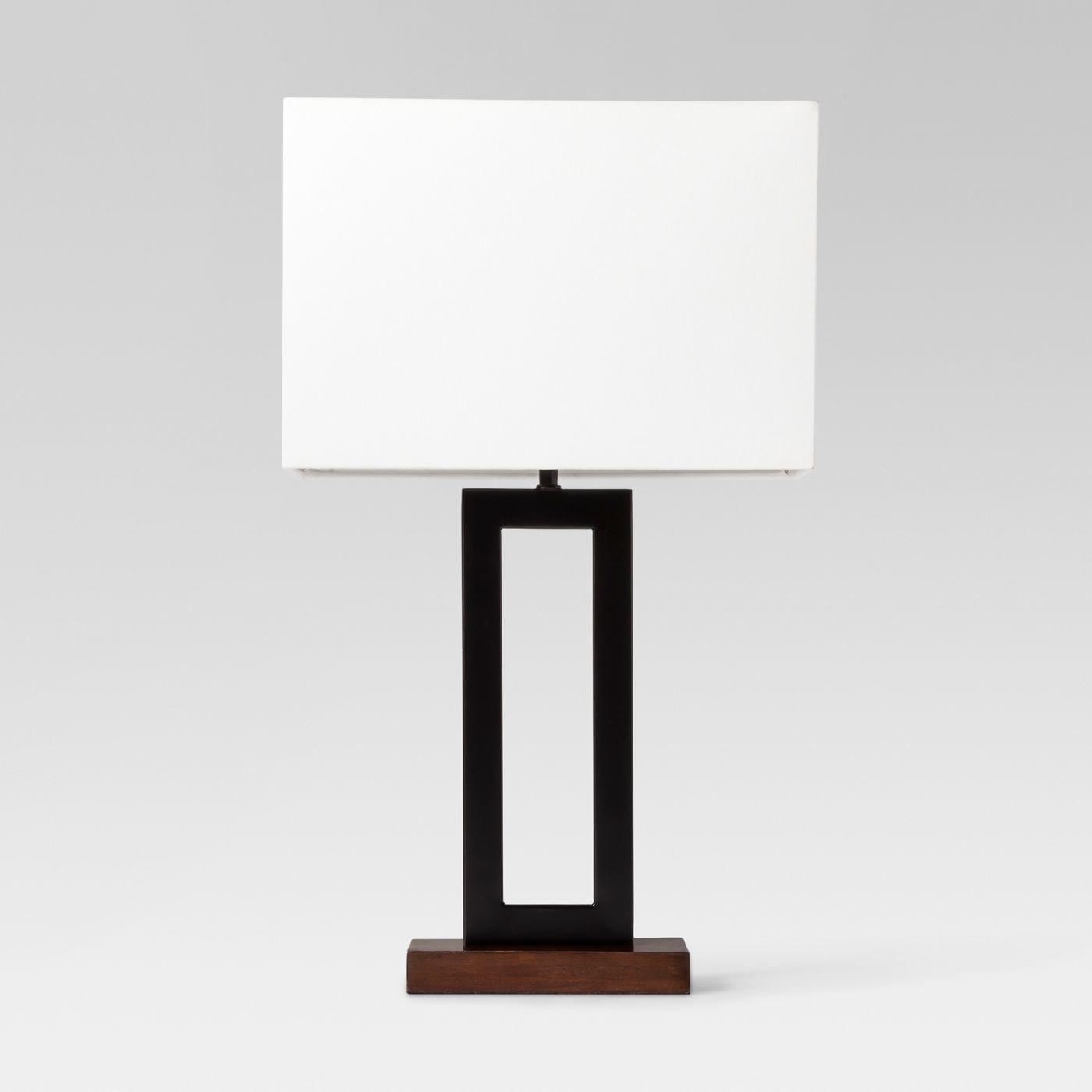 A black window pane lamp