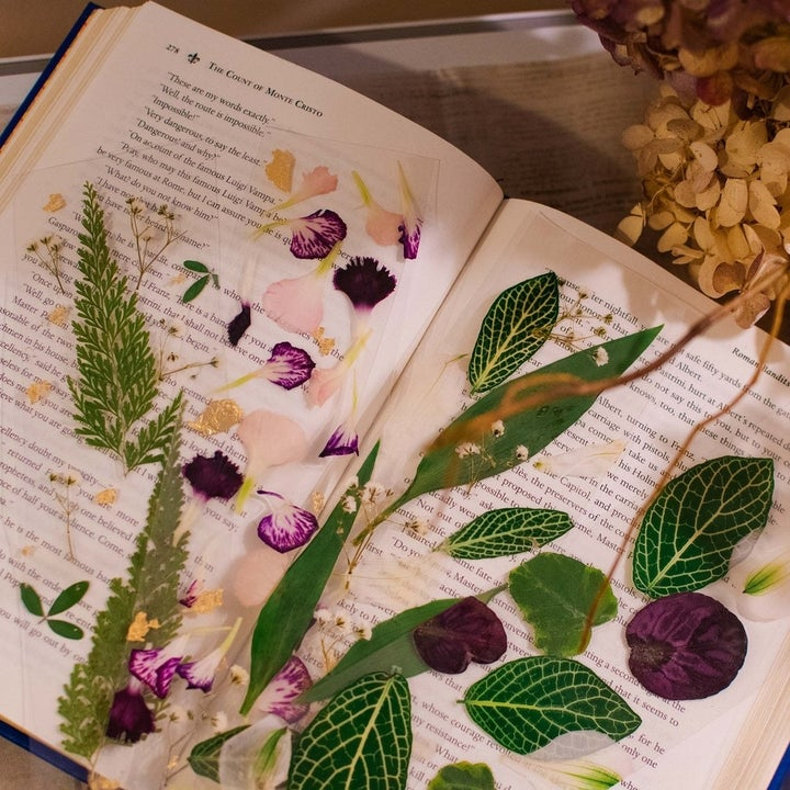 the floral bookmarks