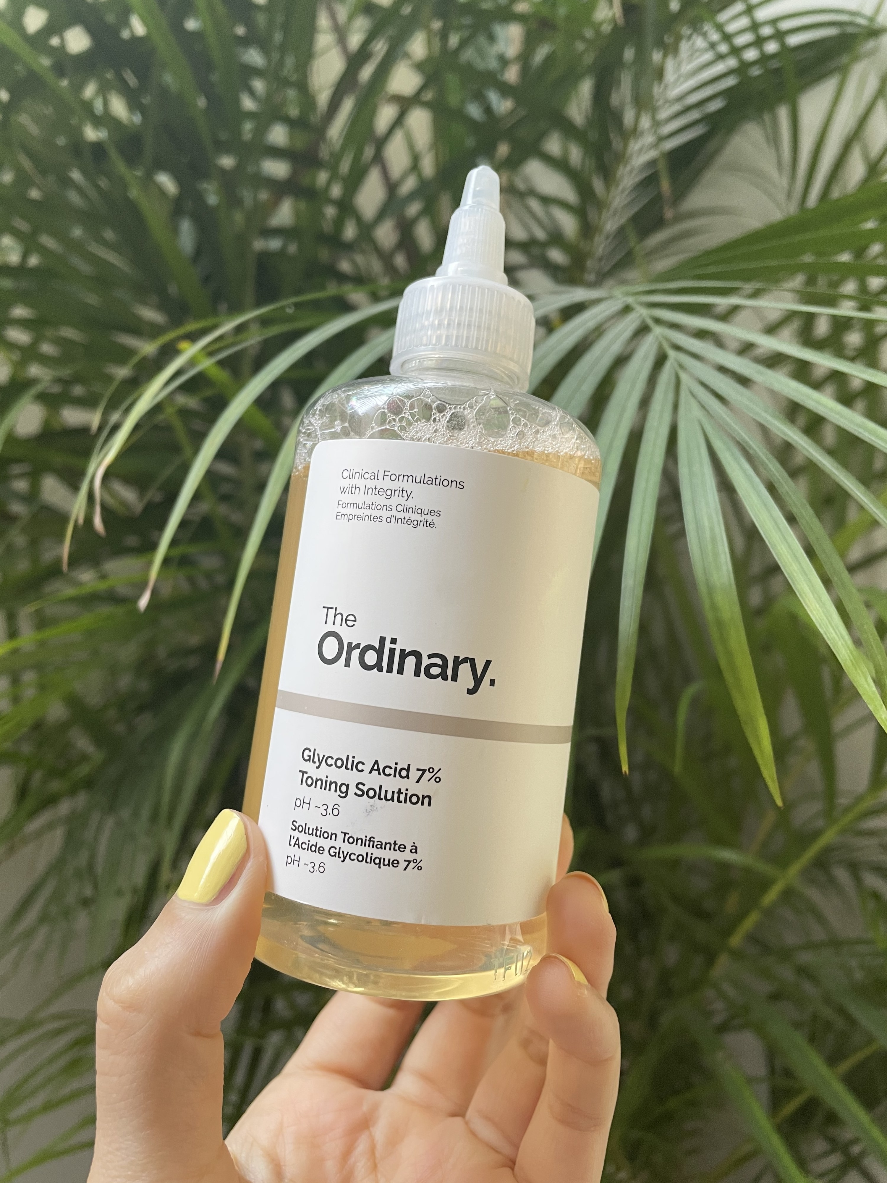 A bottle of The Ordinary's Glycolic Acid Toning Solution