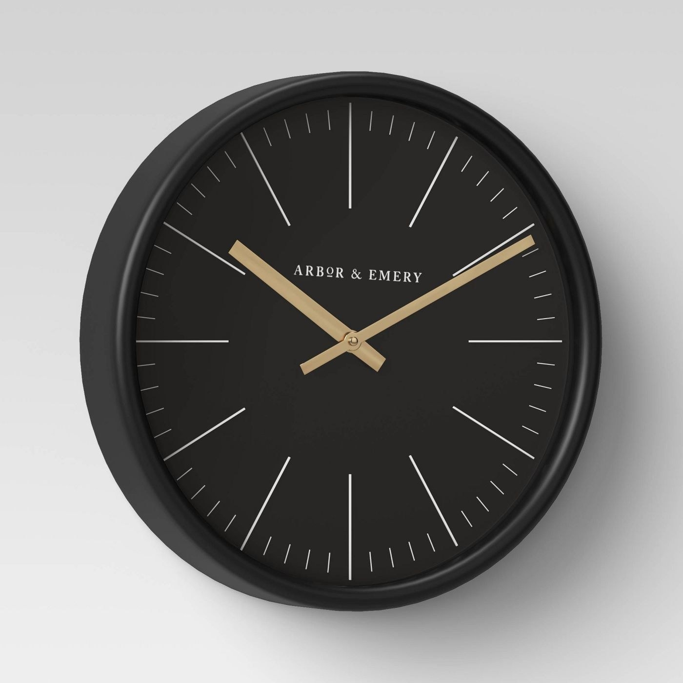 A black and brass clock in a home