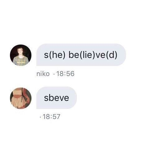 person who says sbeve