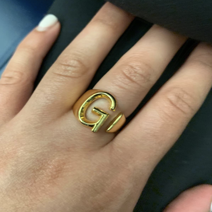 reviewer wearing the ring