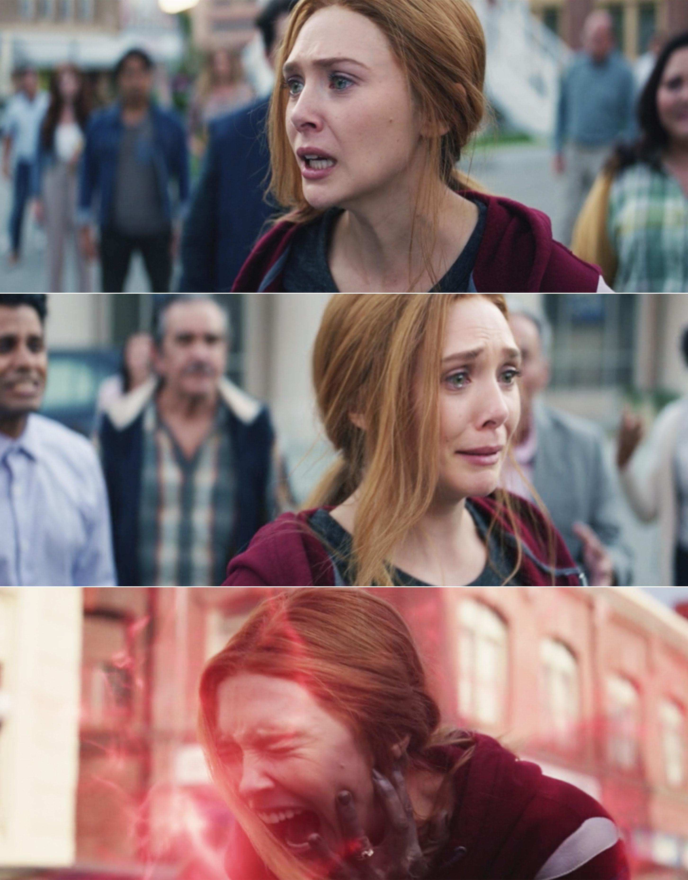 Wanda crying and screaming