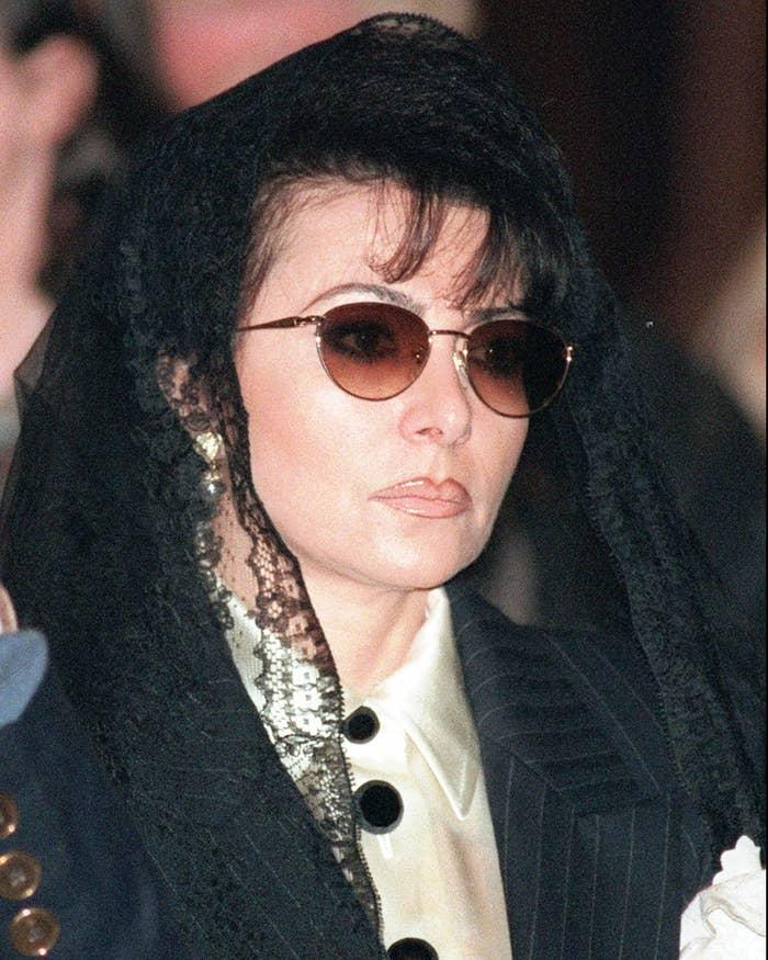 Patrizia Reggiani at the funeral of her former husband, Maurizio Gucci