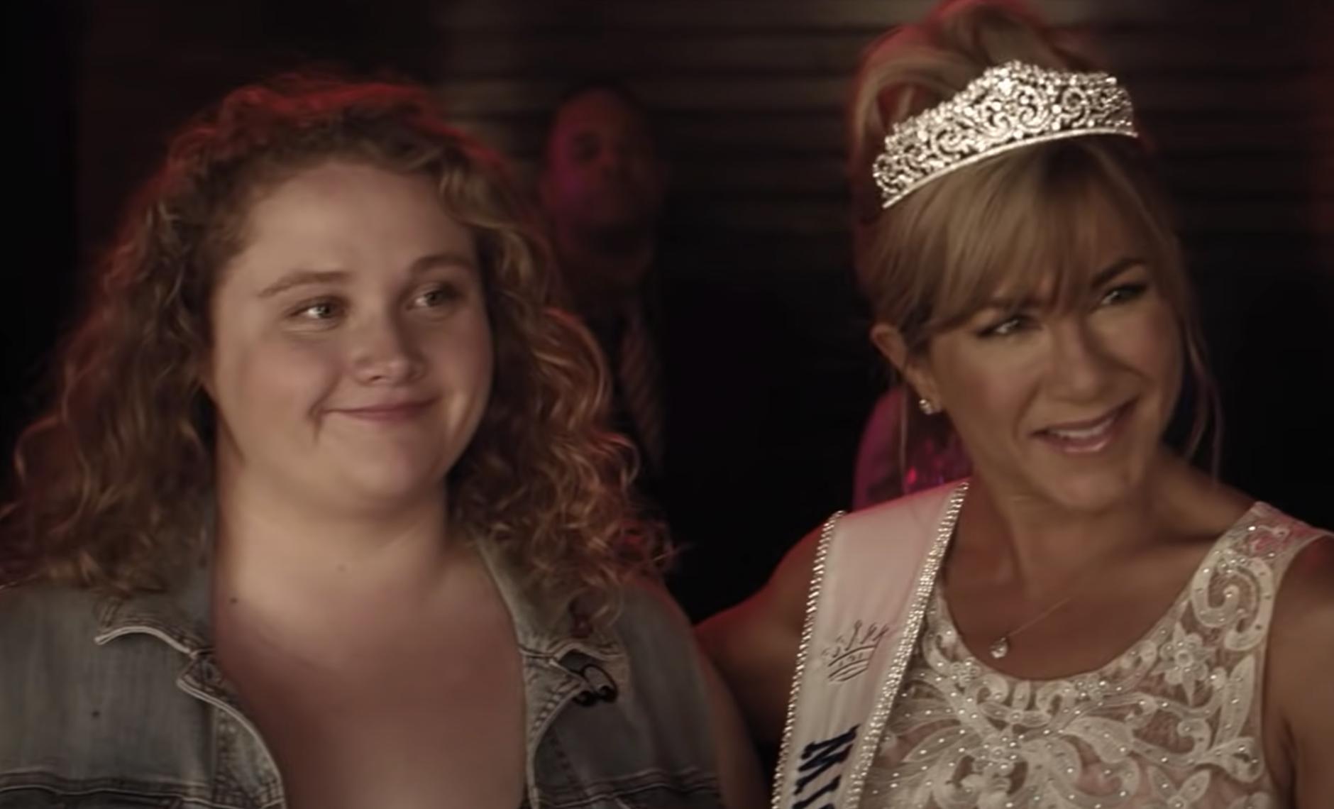 "Daniella and Jennifer Aniston in the trailer for ""Dumplin'"""