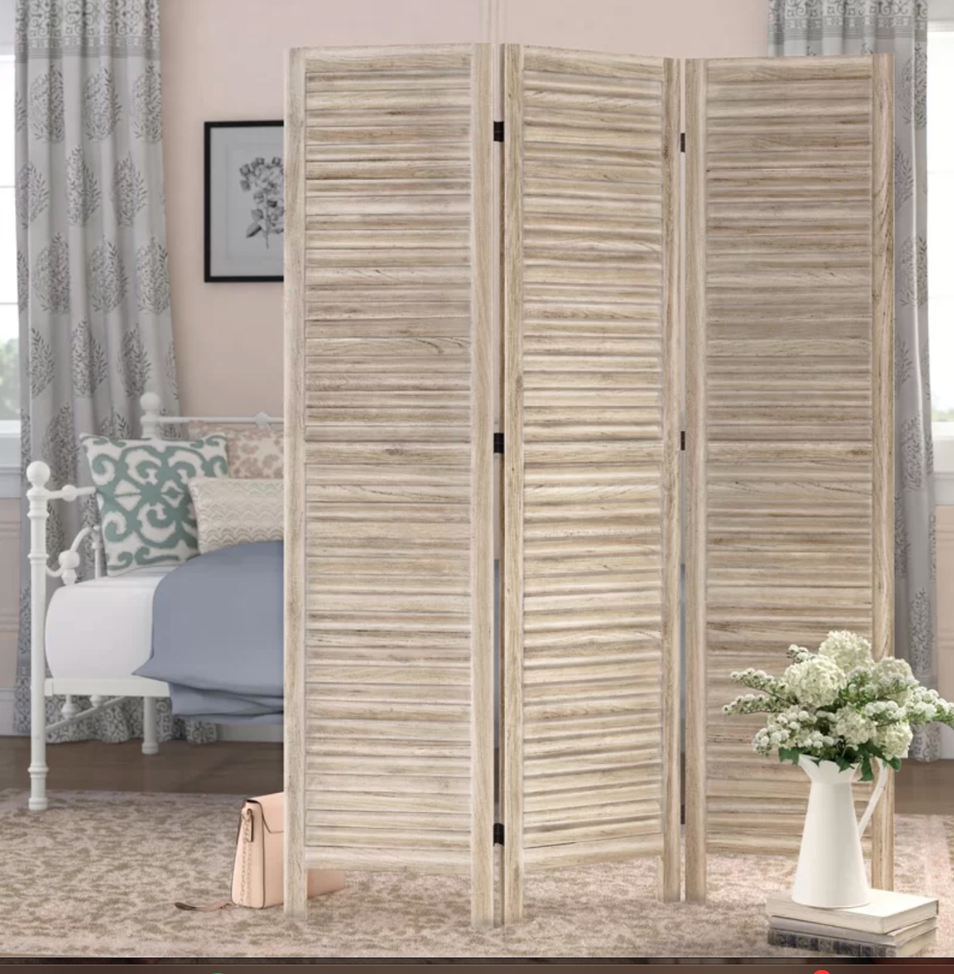 The room divider in natural