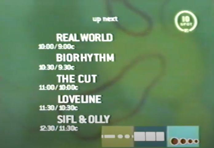 Screenshot of MTV 10 Spot line-up