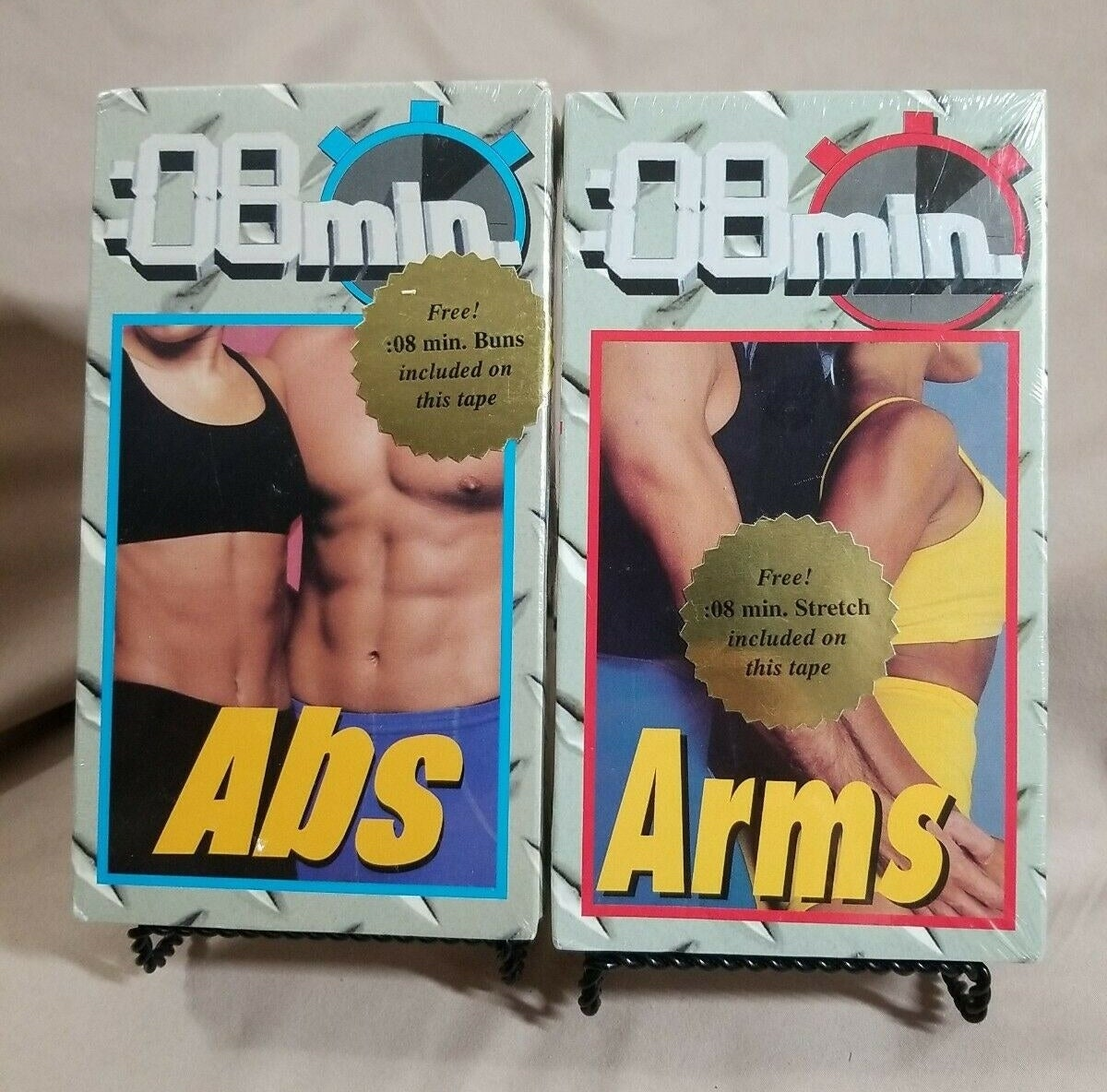 A VHS copy of 8-minute abs and 8-minute Arms