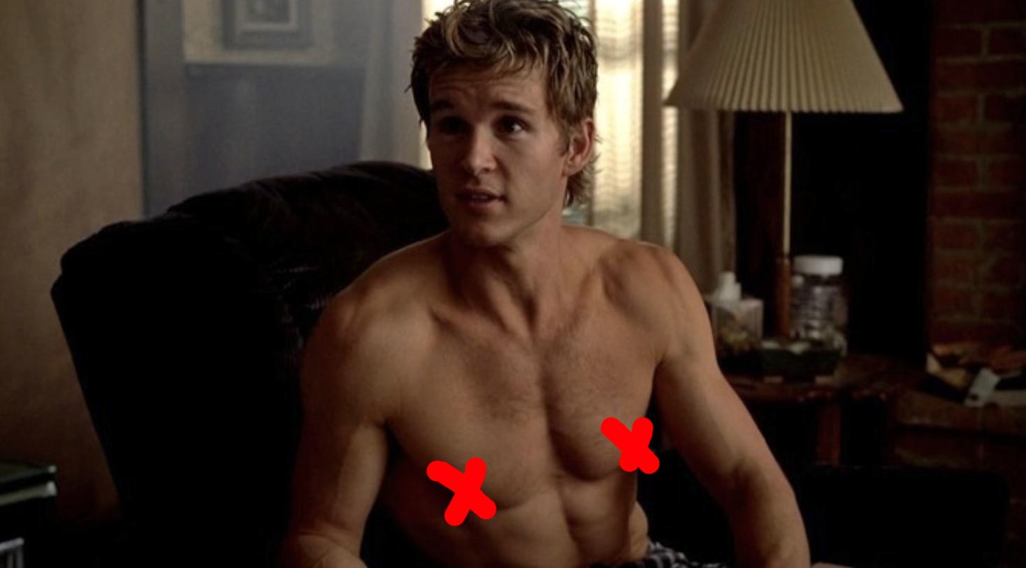"""Ryan shirtless in """"True Blood"""""""