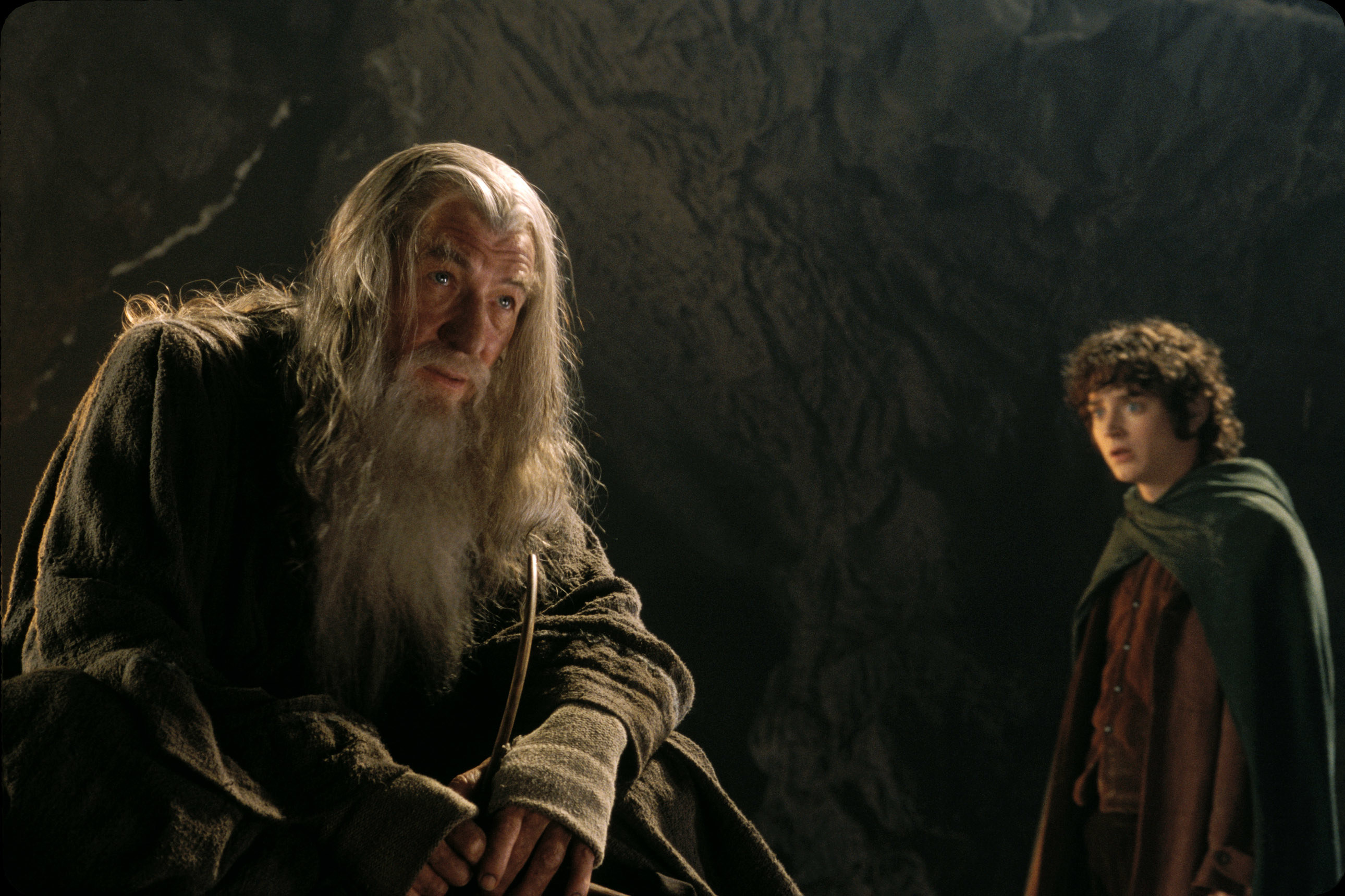 """Frodo and Gandalf in """"Lord of the Rings"""""""