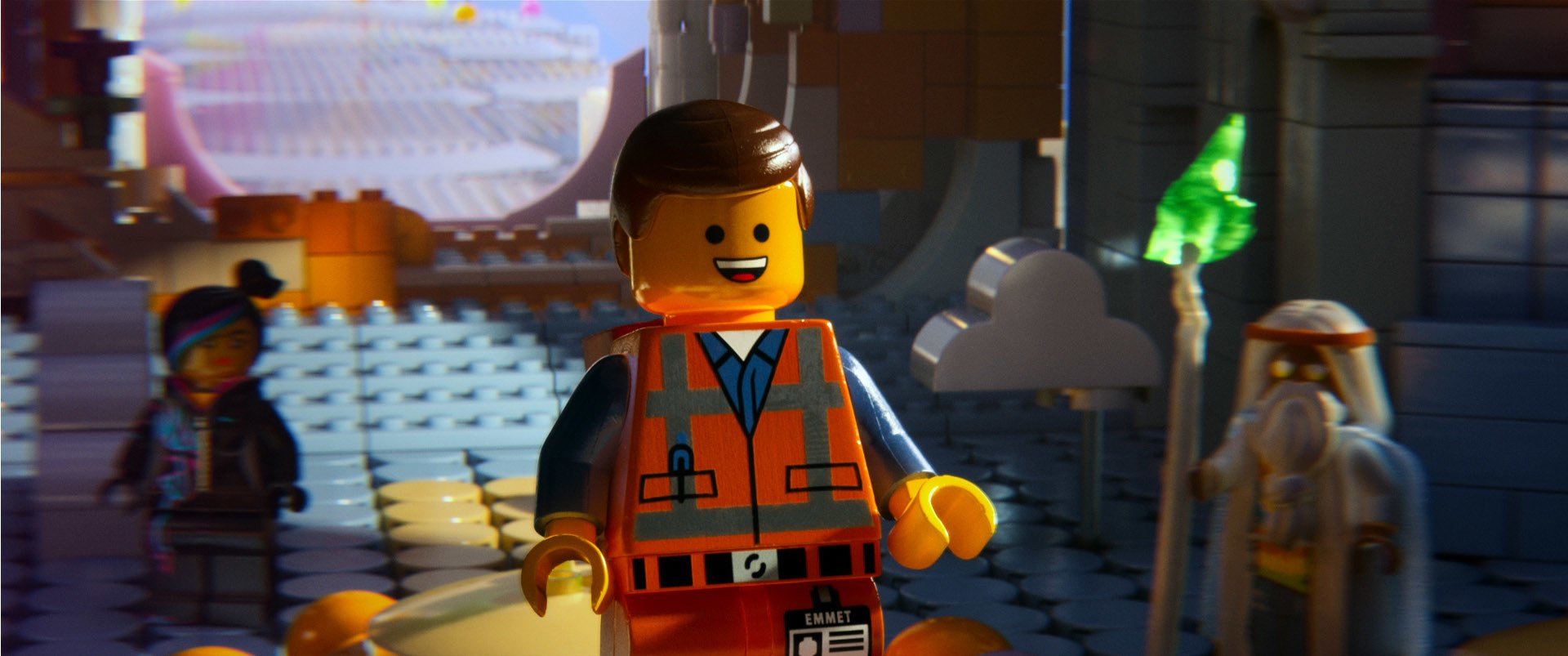 """Wyldstyle, Emmet, and Vitruvius from """"The Lego Movie"""""""