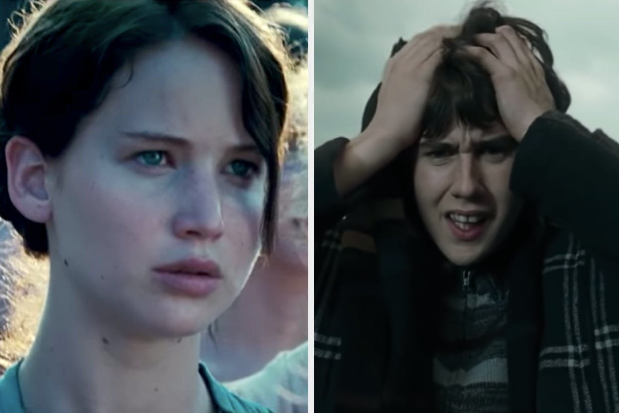 "Katniss in ""Hunger Games"" and Neville in ""Harry Potter"""